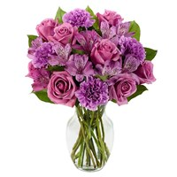 Perfectly purple flower bouquet from Ingallina's Gifts
